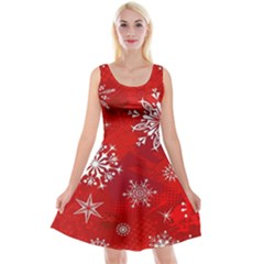 Christmas Pattern Reversible Velvet Sleeveless Dress