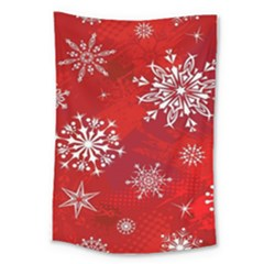 Christmas Pattern Large Tapestry