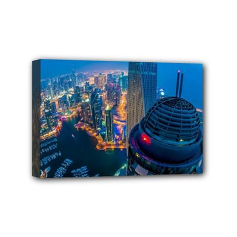 City Dubai Photograph From The Top Of Skyscrapers United Arab Emirates Mini Canvas 6  X 4