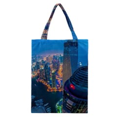 City Dubai Photograph From The Top Of Skyscrapers United Arab Emirates Classic Tote Bag