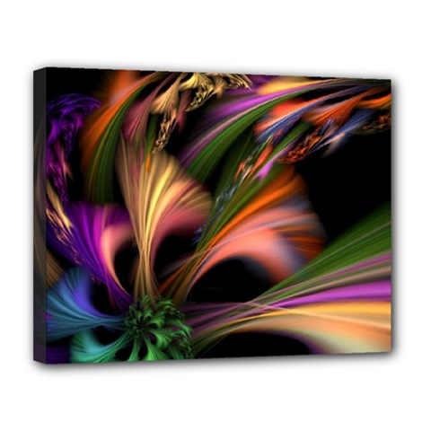 Color Burst Abstract Canvas 14  X 11