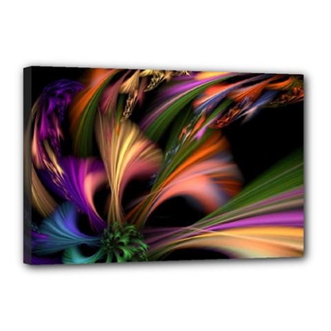 Color Burst Abstract Canvas 18  X 12