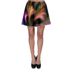 Color Burst Abstract Skater Skirt