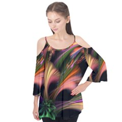 Color Burst Abstract Flutter Tees