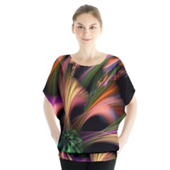 Color Burst Abstract Blouse