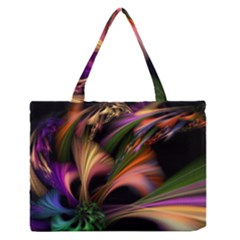 Color Burst Abstract Medium Zipper Tote Bag
