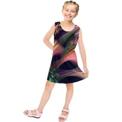 Color Burst Abstract Kids  Tunic Dress