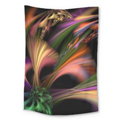 Color Burst Abstract Large Tapestry