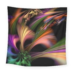 Color Burst Abstract Square Tapestry (large)