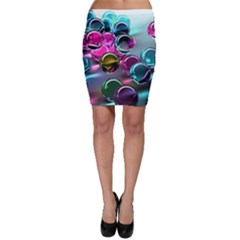 Colorful Balls Of Glass 3d Bodycon Skirt