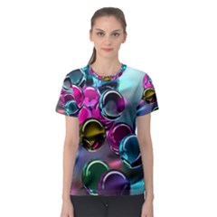 Colorful Balls Of Glass 3d Women s Sport Mesh Tee