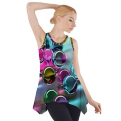 Colorful Balls Of Glass 3d Side Drop Tank Tunic