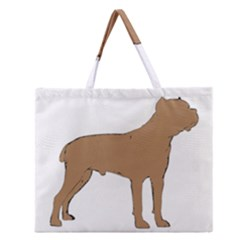 Cane Corso Silo Color Zipper Large Tote Bag