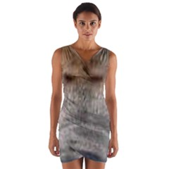 Cane Corso Eyes Wrap Front Bodycon Dress
