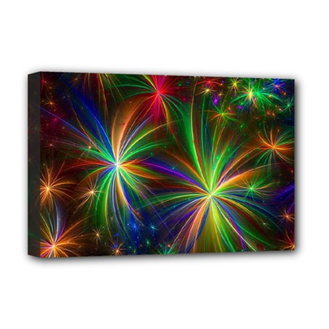 Colorful Firework Celebration Graphics Deluxe Canvas 18  X 12