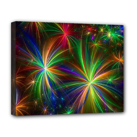 Colorful Firework Celebration Graphics Deluxe Canvas 20  X 16