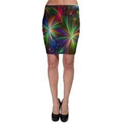 Colorful Firework Celebration Graphics Bodycon Skirt