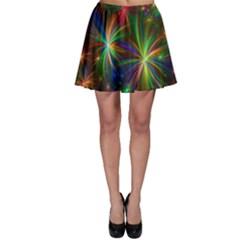 Colorful Firework Celebration Graphics Skater Skirt