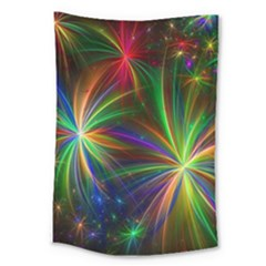 Colorful Firework Celebration Graphics Large Tapestry
