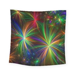 Colorful Firework Celebration Graphics Square Tapestry (small)