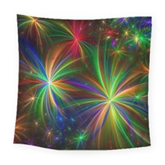 Colorful Firework Celebration Graphics Square Tapestry (large)