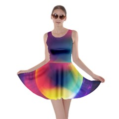 Colorful Glowing Skater Dress