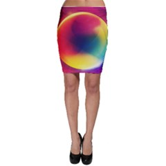 Colorful Glowing Bodycon Skirt