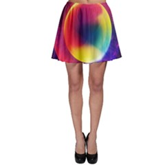 Colorful Glowing Skater Skirt