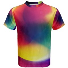 Colorful Glowing Men s Cotton Tee