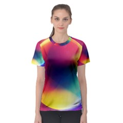 Colorful Glowing Women s Sport Mesh Tee