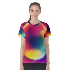 Colorful Glowing Women s Cotton Tee