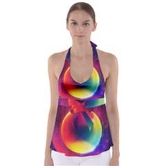 Colorful Glowing Babydoll Tankini Top