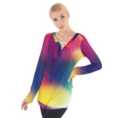 Colorful Glowing Women s Tie Up Tee