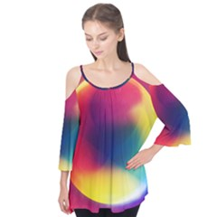 Colorful Glowing Flutter Tees
