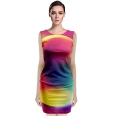 Colorful Glowing Sleeveless Velvet Midi Dress