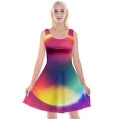 Colorful Glowing Reversible Velvet Sleeveless Dress