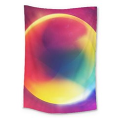 Colorful Glowing Large Tapestry