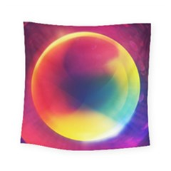 Colorful Glowing Square Tapestry (small)