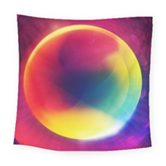 Colorful Glowing Square Tapestry (large)