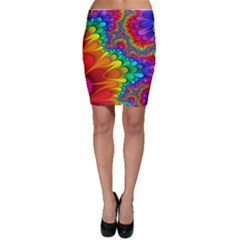 Colorful Trippy Bodycon Skirt