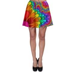 Colorful Trippy Skater Skirt