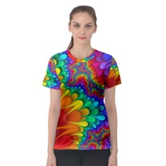 Colorful Trippy Women s Sport Mesh Tee