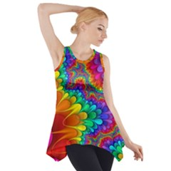 Colorful Trippy Side Drop Tank Tunic