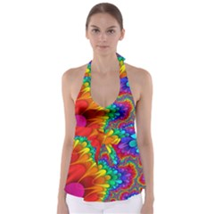 Colorful Trippy Babydoll Tankini Top