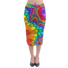 Colorful Trippy Midi Pencil Skirt