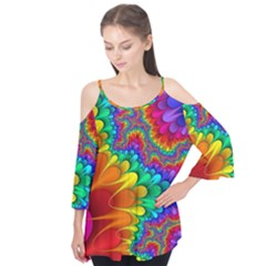 Colorful Trippy Flutter Tees