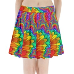 Colorful Trippy Pleated Mini Skirt