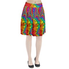 Colorful Trippy Pleated Skirt