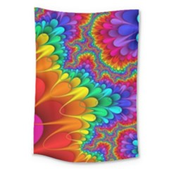 Colorful Trippy Large Tapestry