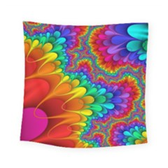 Colorful Trippy Square Tapestry (small)